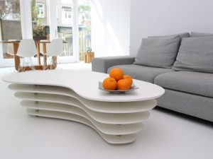 witte pu-gietvloer woonkamer