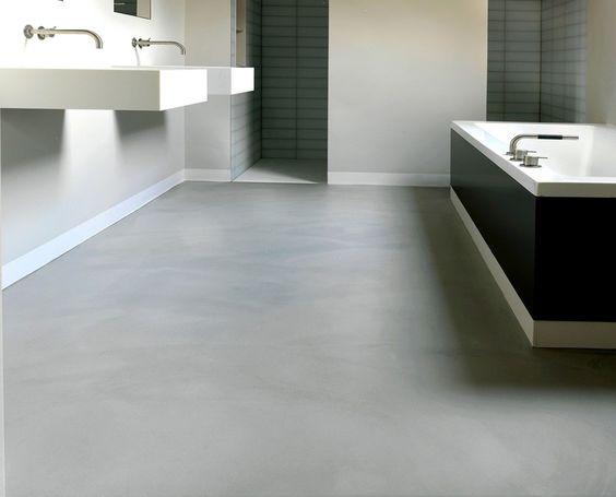 Kan een gietvloer in de badkamer | Gietvloer-gietvloeren.nl